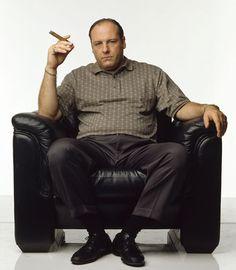 "Tony ""If one family doesn't kill him. Tony Soprano, Os Sopranos, Portraits, Great Tv Shows, Street Smart, Al Capone, Best Actor, Best Tv, Actor"