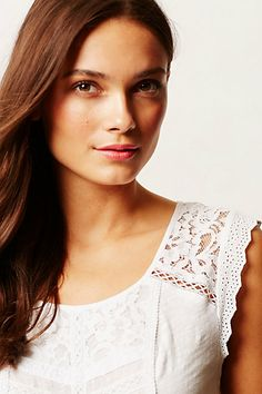 Lace Lined Tee front details