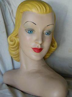 Vintage Mannequin Head - Hat Display