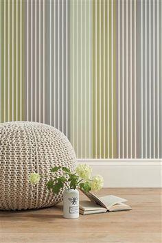 Buy Multi Stripe Green Wallpaper from the Next UK online shop