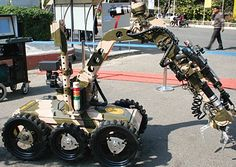 DRDO Daksh-ROV (Remotely Operated Vehicle),First Robot to defuse bombs Daksh is an electrically powered Remotely Operated Vehicle (ROV) designed and develop