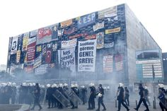 Police re-enter Taksim Square on June 11, 2013. The government's reliance on riot police harms its domestic and international standing.