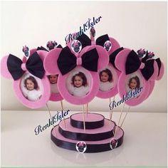 Minnie mouse doğum günü çerçeveleri Tuğçe için hazırlandı.