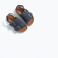 HOOK AND LOOP LEATHER SANDALS from Zara
