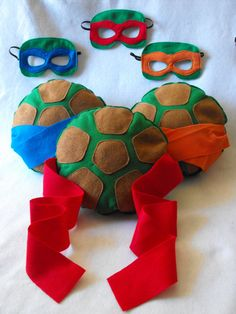 TMNT Shell and mask set by CapesNCrowns on Etsy