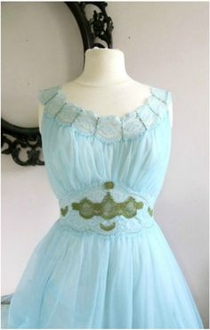 Vintage Reconstruction Something Blue Fairy Slipdress by lorigam Vintage Bridal, Vintage Lace, Bridal Dresses, Flower Girl Dresses, Blue Fairy, Wedding Night, Something Blue, Silk Ribbon, Handmade Clothes