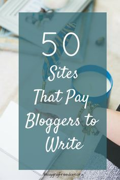 Want to make money from your blog but don't know how to get started? Try your hand at freelance writing ---and here are 50 places to get you started!