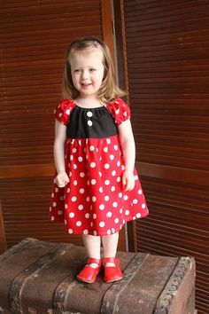 Minnie Mouse Dress, Disney Inspired Dress, Princess Dress Up, Girls Costume, Halloween Costume