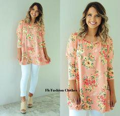 Girl Fashion, Fashion Outfits, Peach Orange, Floral Tops, Girls, Clothes, Women, Women's Work Fashion, Toddler Girls