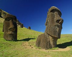 Easter Island, Chile These massive statues are called moai and represented deified ancestors of the people. Places Around The World, Oh The Places You'll Go, Places To Travel, Places To Visit, Around The Worlds, Wonderful Places, Beautiful Places, Voyager C'est Vivre, Easter Island