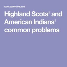 Highland Scots and