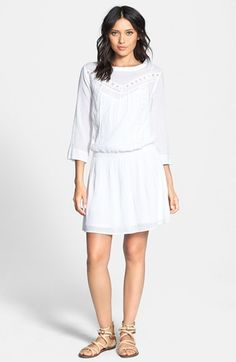 boheme lace trim dress / elle moss