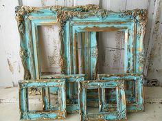 Ornate picture frame grouping Shabby cottage by AnitaSperoDesign
