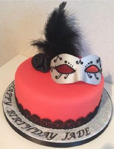 Masquerade Cake Decorating Class London - Learn to decorate this cake
