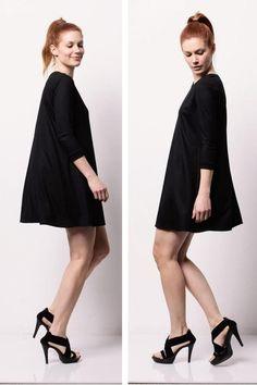 Vampire Vintage A-Linien Kleid mit Rundhals