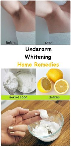 Underarm Whitening Home Remedies - If you have a dark underarm skin that gives you nightmare, try this home remedy.