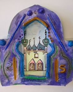 GTown 5th Grade Middle Eastern Architecture study - clay doorways