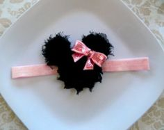 Minnie Mouse Headband or clip- you choose color- red, light pink, hot pink, babies, toddlers, girls, Disney World, Disneyland, Disney Cruise