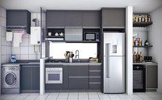 No photo description available. Small Kitchenette, Small Kitchen Storage, Apartment Kitchen, Kitchen Interior, Kitchen Decor, Küchen Design, House Design, Kitchen Remodel Pictures, Tiny House Loft