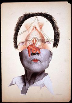 Wangechi Mutu Complete Prolapsus of the Uterus 2004 Glitter, ink, collage on found medical illustration paper 46 x 31cm