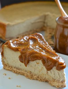 Ultra-rich, decadently dense & creamy Baked Vegan New York Cheesecake. Dessert perfection!