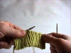 Italiensk Aflukning - Lær at strikke PaaPinden.dk I Cord, Cast Off, Plastic Canvas, Fingerless Gloves, Arm Warmers, Tips, Crochet, Knitting Tutorials, Petra