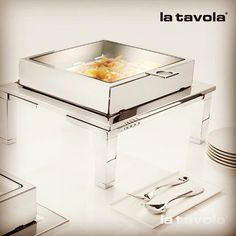 The Magic Chafer with transparent cover and stand. Add a touch of sleek…