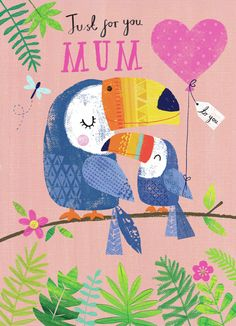 Joanne Cave | Advocate Art Happy Birthday Floral, Happy Birthday Mom, Mothers Day Cards, Happy Mothers Day, Mother's Day Gift Card, Photo Wall Collage, Birthday Greeting Cards, Cute Illustration, Inspirational Gifts