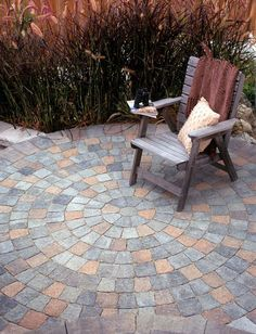 Spiral Design Paver Patio.