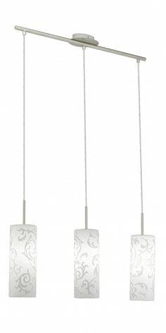 Candelabru AMADORA 90048 cu 3 abajururi, marca Eglo Modern Design, Ceiling Lights, Lighting, Home Decor, Decoration Home, Light Fixtures, Room Decor, Contemporary Design, Ceiling Lamp