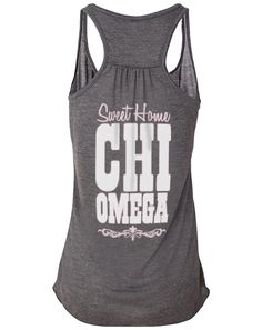 """""""Sweet home Chi Omega"""" tank top"""