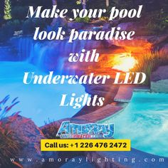 These high-quality Nicheless LED Underwater Lights are Corrosion free,Waterproof & to be used for Pools,Ponds,Lakes,Fountains Inground Pool Lights, Underwater Led Lights, Ponds, Night Time, Lakes, Swimming Pools, Free, Swiming Pool, Pools