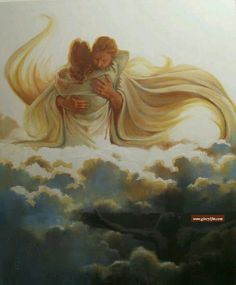 Welcomed into the arms of Jesus, prophetic art. Images Bible, Jesus Christ Images, Jesus Art, Christian Paintings, Christian Art, Jesus E Maria, Jesus Painting, Heart Painting, Angel Drawing