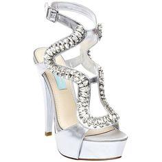 2330140973c8 Betsey Johnson Ring Metallic High Heeled Sandal in Silver