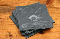 Red Sox Greatest Plays Coasters - Slate Coasters (Set of 4) – Points and Pints