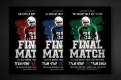 Final Match Football Flyer #america #american Download : http://1.envato.market/c/97450/298927/4662?u=https://elements.envato.com/final-match-football-flyer-BLB4FE