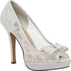 White Wedding Shoes - so cute