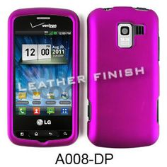 Unlimited Cellular Snap-On Case for LG Enlighten/Eclipse VS700 (Honey Dark Purple, Leather Finish)