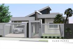Ideas For Exterior Modern Design Fence Modern Fence Design, Modern House Design, Modern Bungalow House, House Elevation, Modern Exterior, Exterior Design, House Entrance, New Home Designs, Facade House