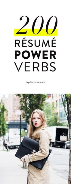 200 #Resume Power Verbs | Verbs are one of the most important ingredients... #resumehelp #career
