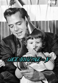 Desi Arnaz with his daughter Lucie