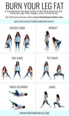 Leg workout routine for women & Leg workout & Home Workout & Home Workout form women & Leg exercises & Christina Carlyle The Best Leg& The post The Best Leg Workout For Women to Lose Leg Fat appeared first on Shane Carlson Fitness. Workout Routines For Women, Fitness Routines, Fitness Workouts, Ab Workouts, Fitness Motivation, At Home Workouts For Women, Easy Home Workouts, Gym Routine Women, Easy Workouts For Beginners
