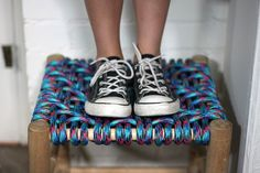 Woven rope stool #DIY