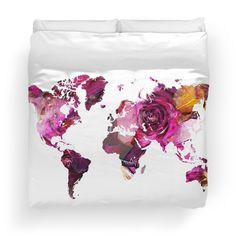 World Map roses