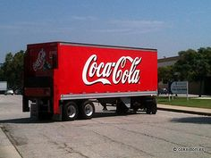 Coca-Cola truck leaving Torrance Bottling Plant in California