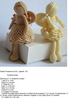 CROCHET ANGELS - Per prev.pinner: These are gorgeous - not only do I wish the pattern was in English but wish I could crochet too! Cute Crochet, Crochet Crafts, Crochet Dolls, Yarn Crafts, Crochet Projects, Knit Crochet, Crochet Ornaments, Crochet Snowflakes, Amigurumi Doll