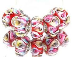 Image result for pandora bracelet pink fat beads