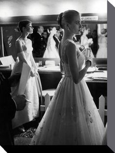 Audrey Hepburn and Grace Kelly - Time Life - Official Canvas Print