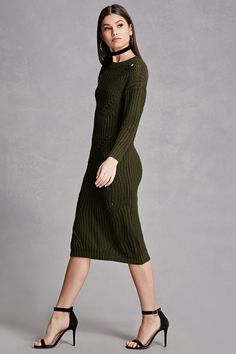 Product Name:Ladder-Cutout Sweater Dress, Category:dress, Price:48