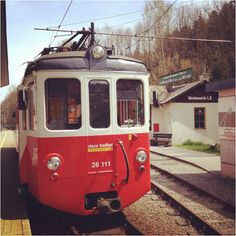 On The Way to Attersee in the Salzkammergut: narrow gauche railway starting at Vöcklamarkt